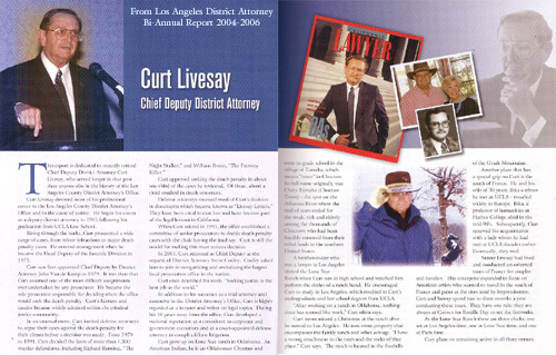 Curt Livesay Media and Recognition